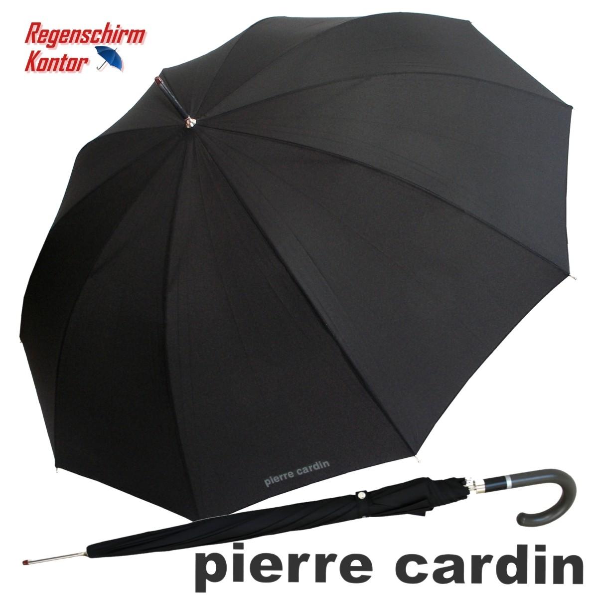 Stockschirm-Regenschirm-schwarz-Herren-Pierre-Cardin