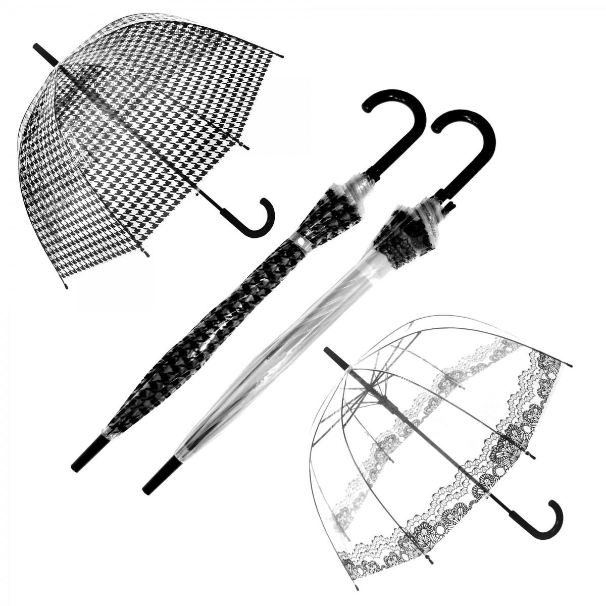 Regenschirm Transparent Durchsichtig Glockenschirm Muster