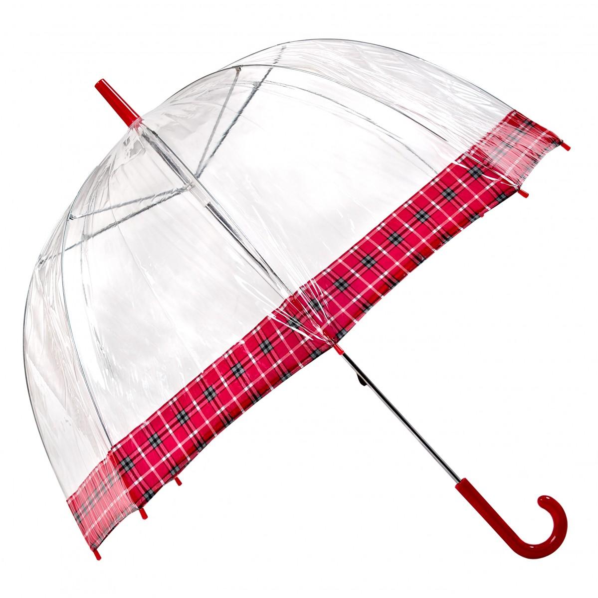 Regenschirm Transparent Durchsichtig Glockenschirm Schottenkaro Lindy Lou