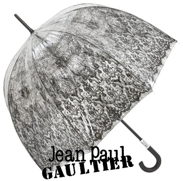 Gaultier Regenschirm Glockenschirm Spitze transparent durchsichtig